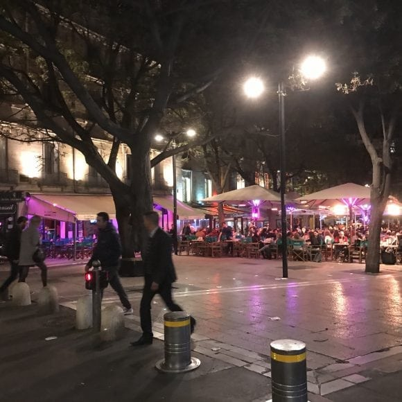Place Jean Jaurés - France - Montpellier by night - AEF homestay in Montpellier
